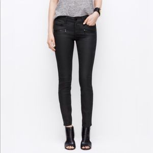 Ann Taylor Modern super skinny coated denim jeans